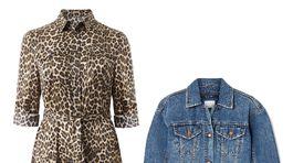 Šaty značky Mango, info o cene v predaji, denimová bunda Ksubi, predáva sa za 86 eur v zľave na Net-a-porter.com.