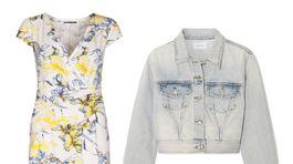 Šaty značky Pietro Filipi, info o cene v predaji. Denimová bunda Current/Elliott, predáva sa za 192 eur na Net-a-porter.com