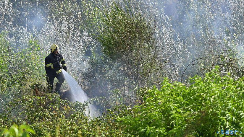 Bratislava Rača požiar Žabí majer