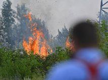 Bratislava Rača požiar Žabí majer hasiči