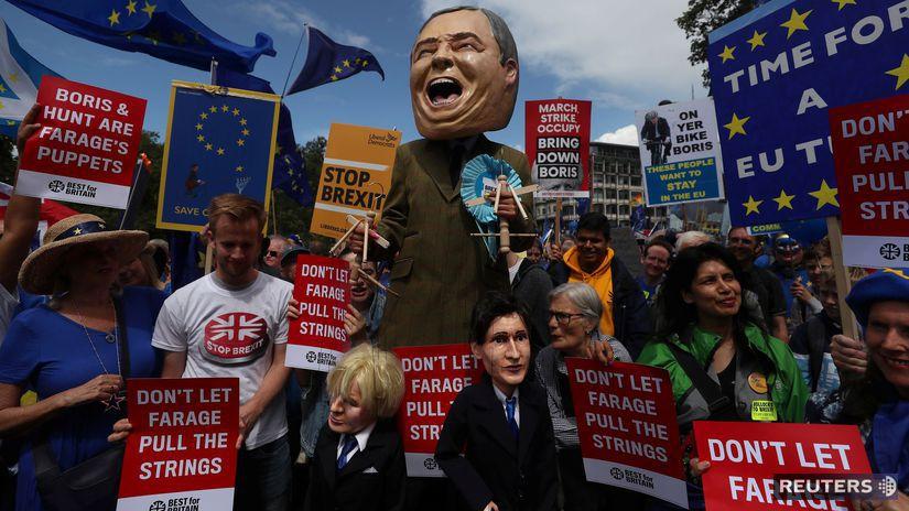 británia, brexit, mayová, johnson, hunt, máničky