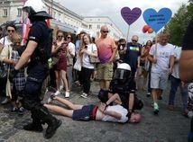 poľsko, pochod, LGBT, Bialystok, polícia, nísilnosti