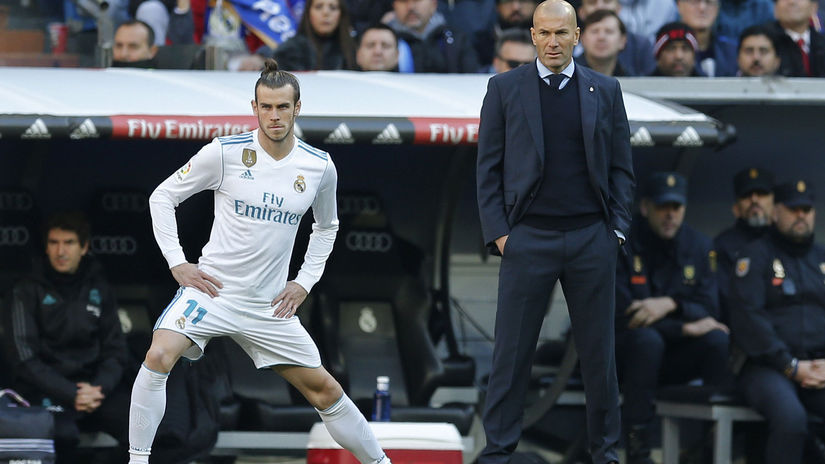 Gareth Bale a Zinedine Zidane