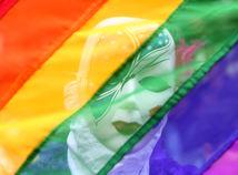 LGBT, dúha, vlajka, maska, pride