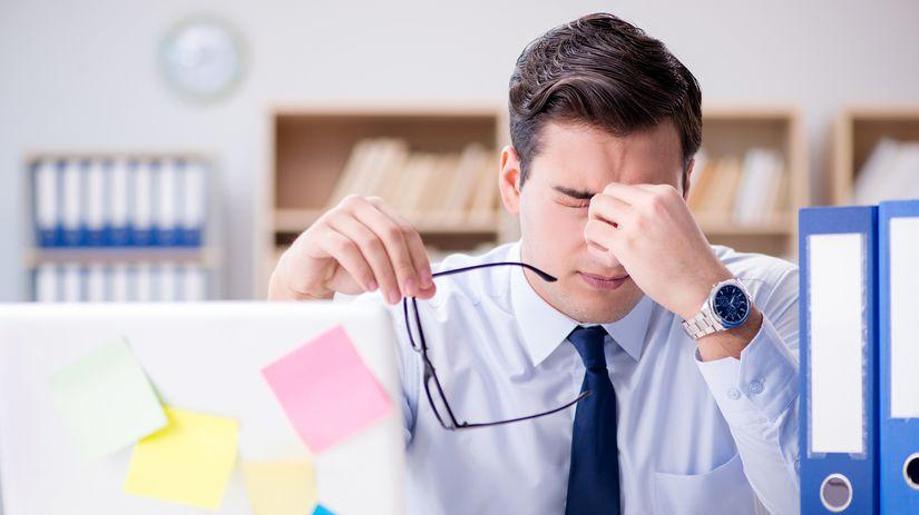 muž, práca, únava, stres
