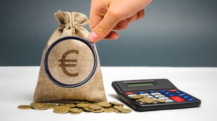 peniaze, eurá, kalkulačka
