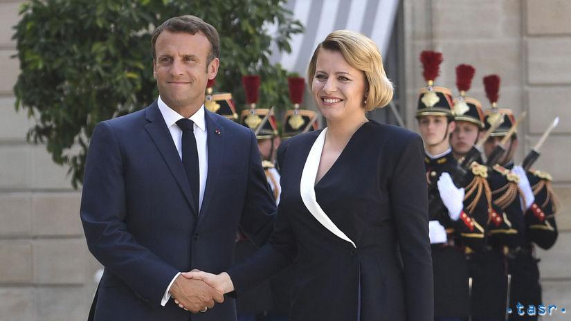 Francúzsko SR Čaputová Francúzsko návšteva...