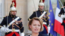 Zuzan Čaputová, prijatie u prezidenta Macrona