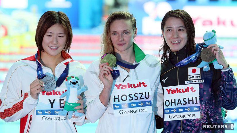 Katinka Hosszúová, Š'-wen Jie, Jui Ohašiová,