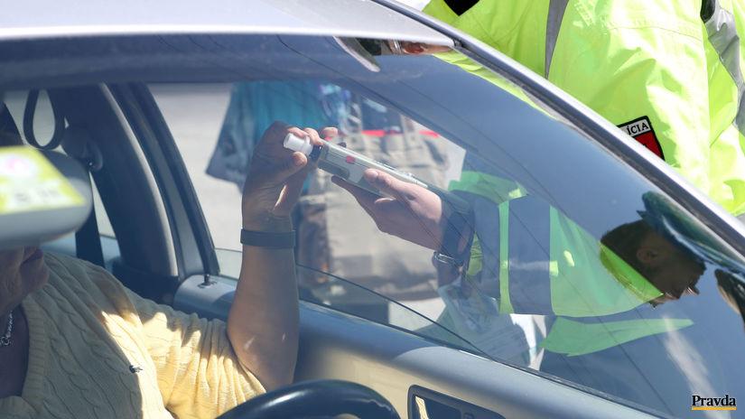 dopravno-preventívna akcia / alkohol za...