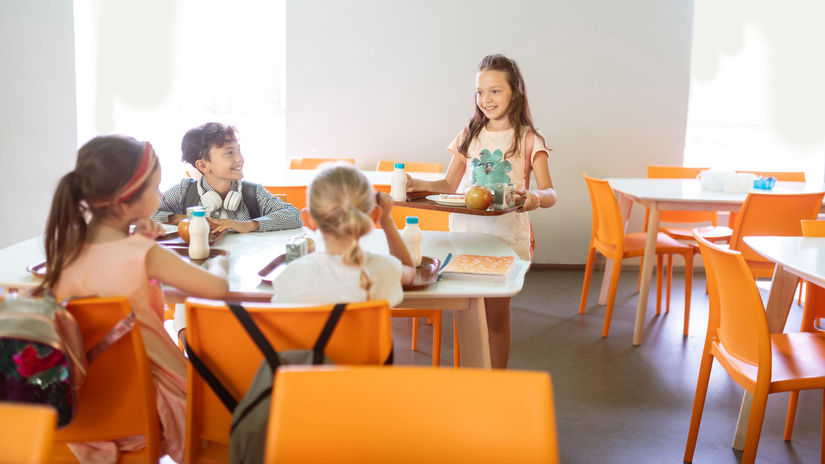 obedy, obed, jedáleň, deti, škola,
