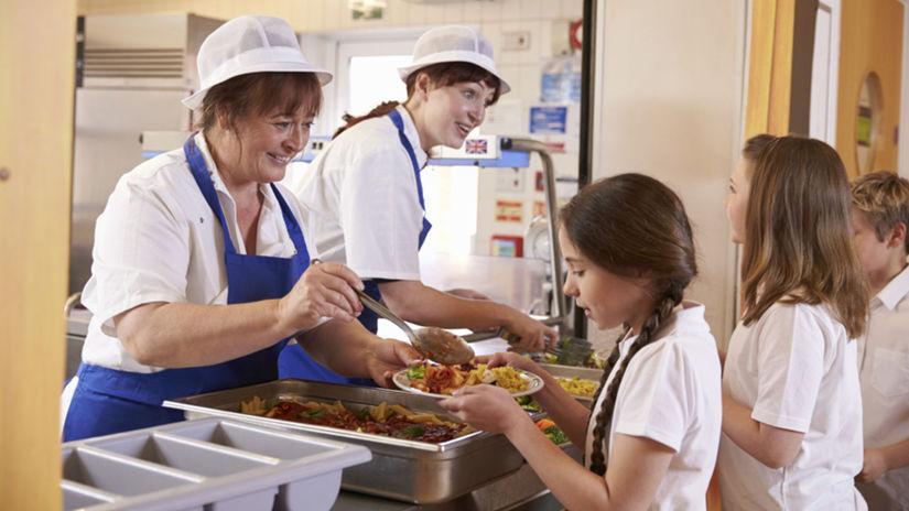 obedy, kuchárky, škola, deti, jedáleň,