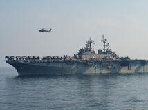 loď, more, vrtuľník, perzský záliv, arabské, uss boxer