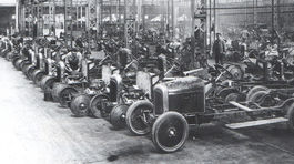 Škoda - pásova výroba