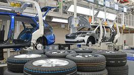 Škoda - pásová výroba