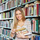 škola, knižnica, knihy, študent, študentka, štúdium,