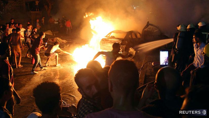 Egypt / Káhira / výbuch / explózia /