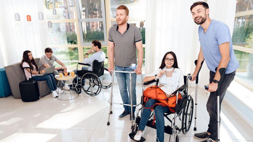 invalidi, invalidita, ambulancia, čakáreň,...