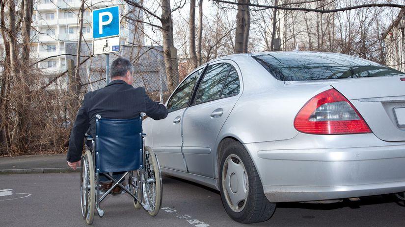invalidita, parkovanie, hendikep, vozíčkar,