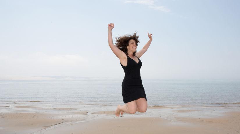 žena, štyridsať, spokojnosť, úsmev, radosť