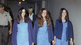 """Členky Mansonovej """"rodiny"""" Susan Atkins, Patricia Krenwinkel a Leslie Van Houten"""
