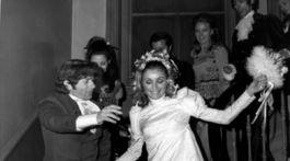 Herečka Sharon Tate a jej manžel - režisér Roman Polanski na zábere z roku 1968.