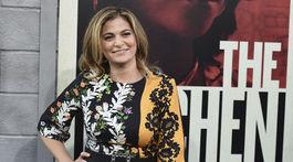 Režisérka a scenáristka Andrea Berloff na premiére novinky The Kitchen.