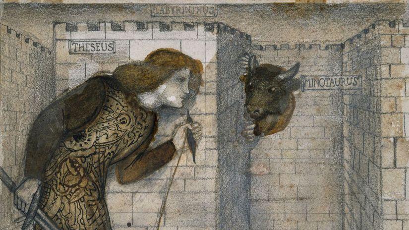 Edward Burne-Jone, minotaurus,