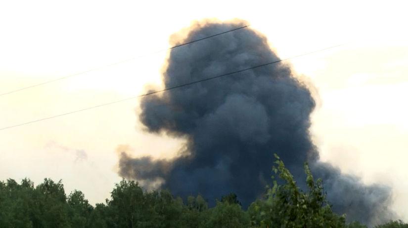 rusko, explózia, výbuch, dym