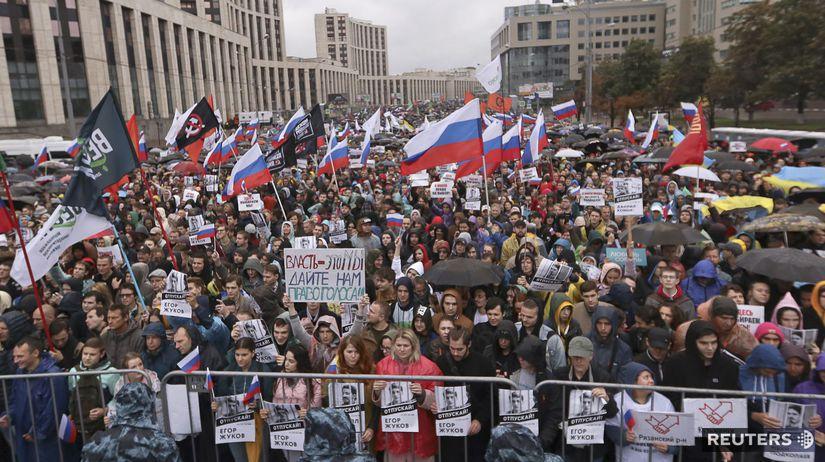Rusko / Moskva / protest / demonštrácia /