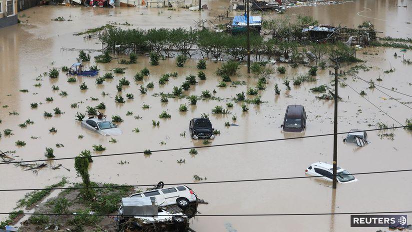 lekima, čína, tajfún, záplavy
