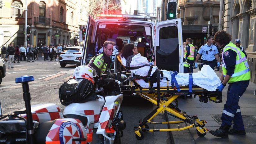 Austrália Sydney Muž Útok Nôž