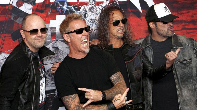 Členovia skupiny Metallica na zábere z roku 2012.