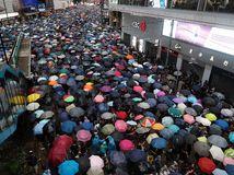 HongKong protest demonštrácia