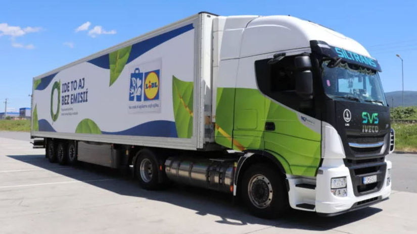 Lidl, kamión, ekológia