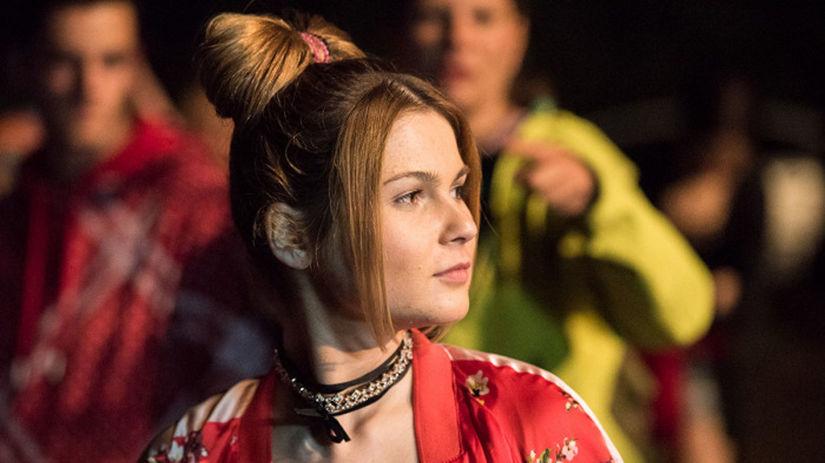 Herečka Simonetta Hladká na zábere z filmu...