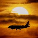 lietadlo, doprava, letecká preprava, let, slnko,