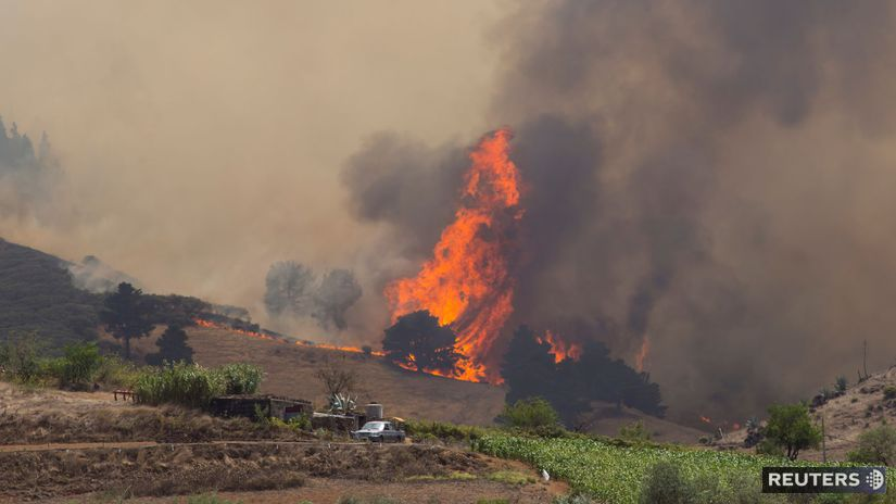 Španielsko / Gran Canaria / požiar /