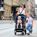 žena, matka, deti, dieťa, prechádzka,