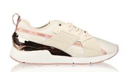 Tenisky v kombinácii textilu a kože značky Puma. Predávajú sa za 89,95 eura v sieti Humanic.