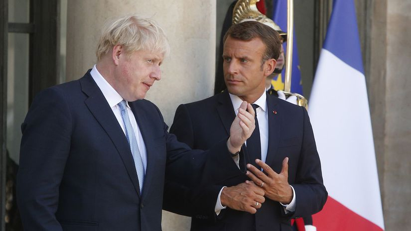 boris johnson, emmanuel macron