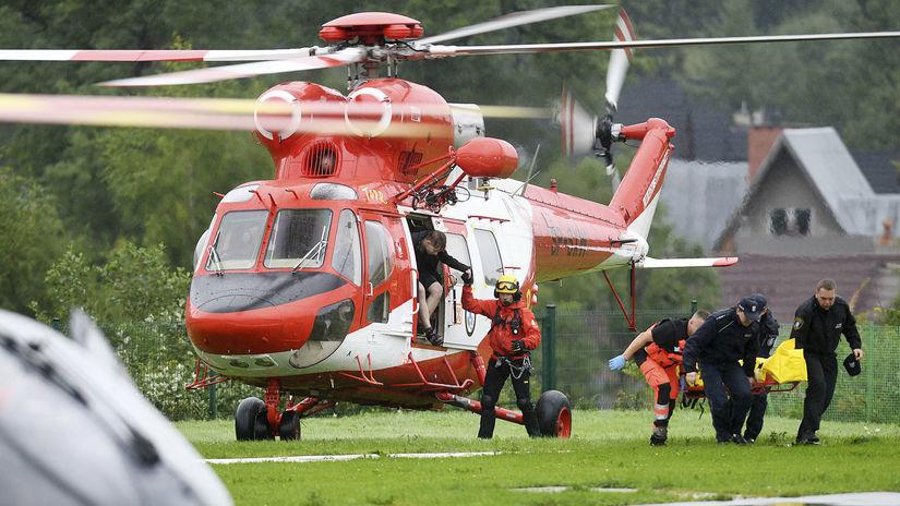 poľsko, tatry, búrka, blesk, vrtuľník, helikoptéra