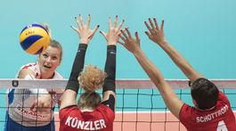 SR Bratislava volejbal ME ženy D Slovensko Švajčiarsko BAX