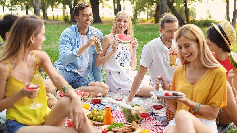 priatelia, oslava, piknik