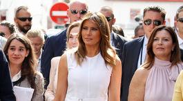 Prvá dáma USA Melania Trump počas návštevy dedinky Espelette.
