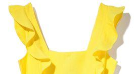 Šaty z kolekcie Reserved v žiarivej žltej farbe.