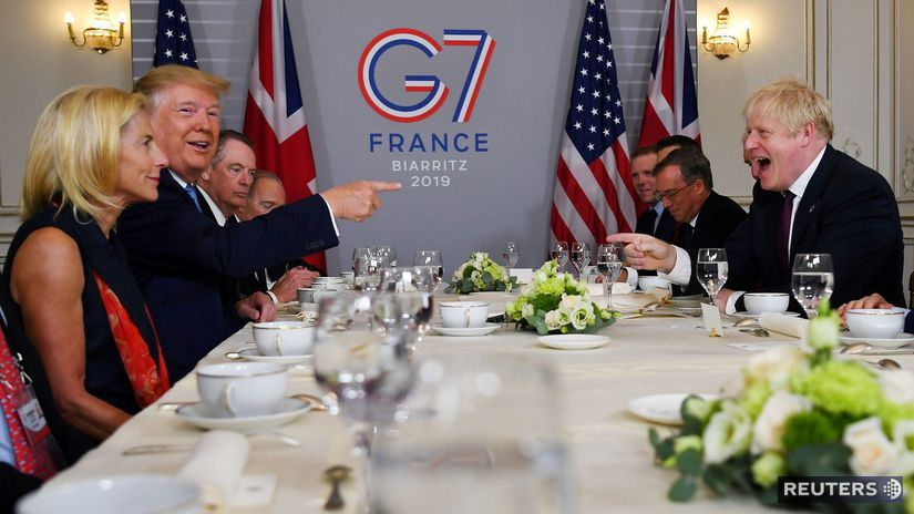 summit G7, Boris Johnson, Donald Trump