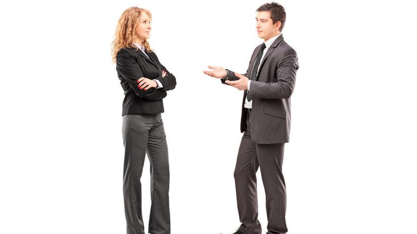 muž, žena, diskusia, dohoda, debata,