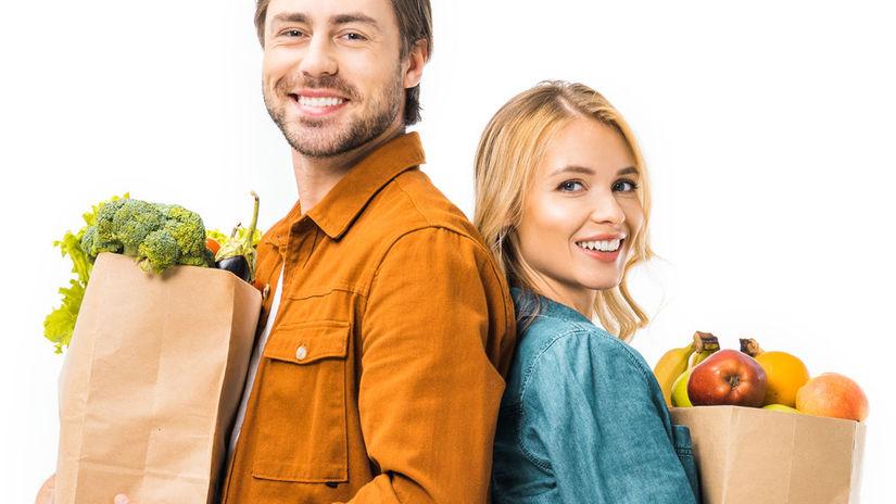 nákup, jedlo, zdravá stravy, životný štýl,
