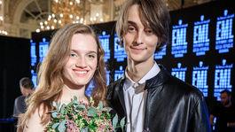 Víťazi za Slovensko - Charlotta Kušnírová a Andrej Machala.